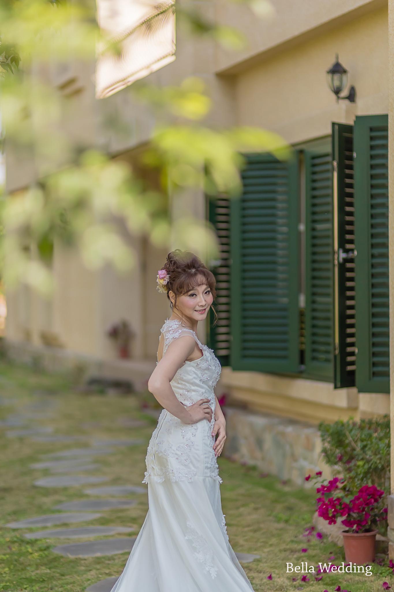 嘉義自助婚紗創作 | 白紗造型 日系花苞髮型 模特兒:渥薇