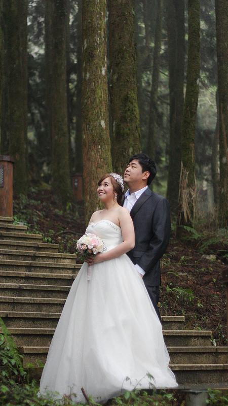嘉義自助婚紗造型 [ Siong Bing & SiEw ] 阿里山櫻花婚紗 韓式風格典雅造型
