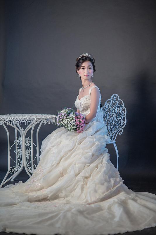 嘉義自助婚紗造型 嘉義市聯合婚禮 韓式編髮造型 新娘惠惠