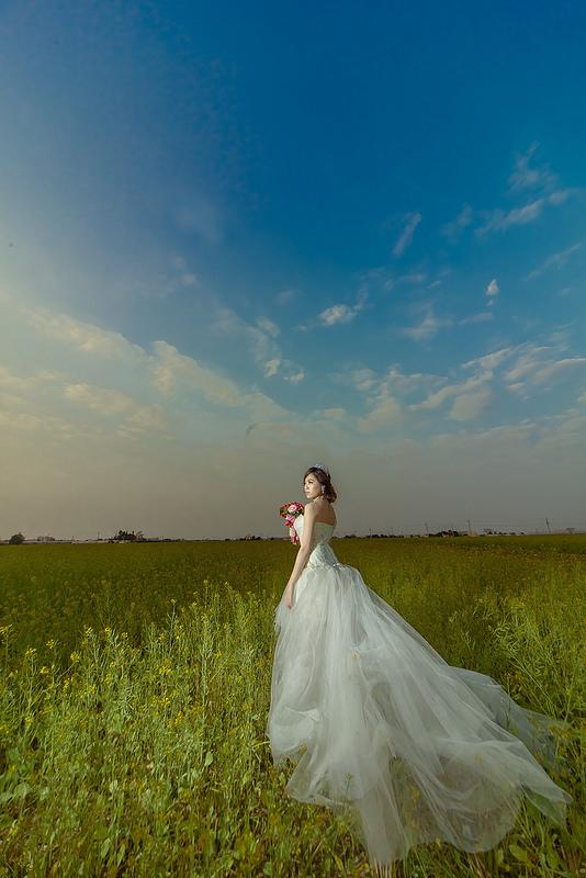 嘉義自助婚紗創作 | 白紗造型 韓風典雅編髮 模特兒:妞妞