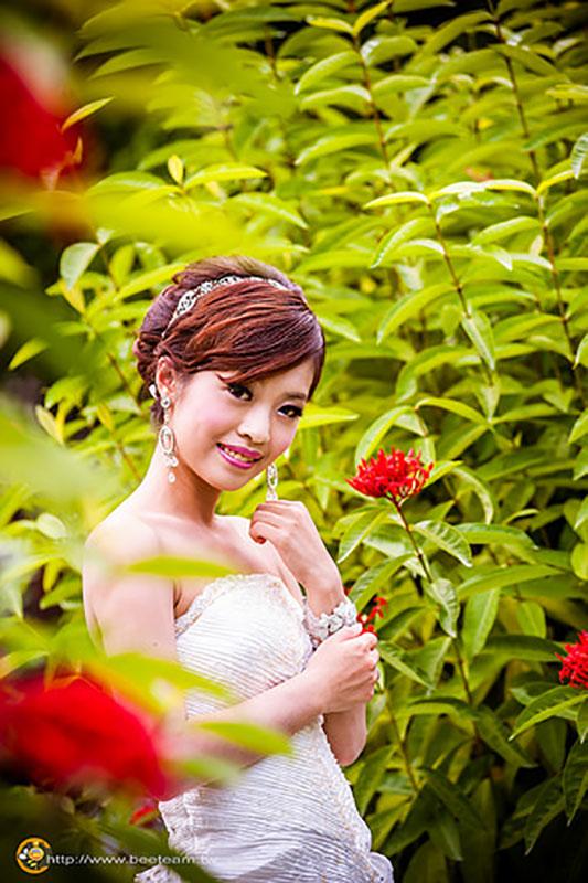 台南新秘,新娘秘書,白河樸軒, 典雅盤髮