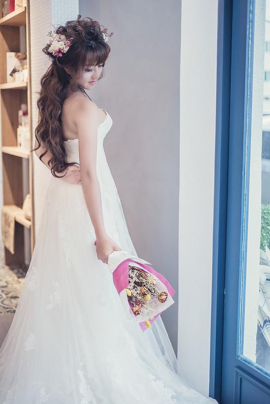 嘉義新秘,新秘,新娘秘書,浪漫仙仙風造型,花磚咖啡