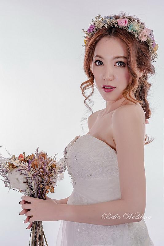 嘉義新秘,新娘秘書,大眼娃新娘,HD清透噴槍,乾燥花新娘造型