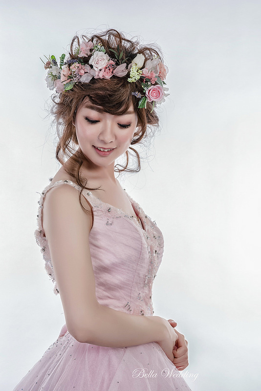 嘉義新秘,新秘,甜美花仙子,仙仙風造型,日系拉絲髮型
