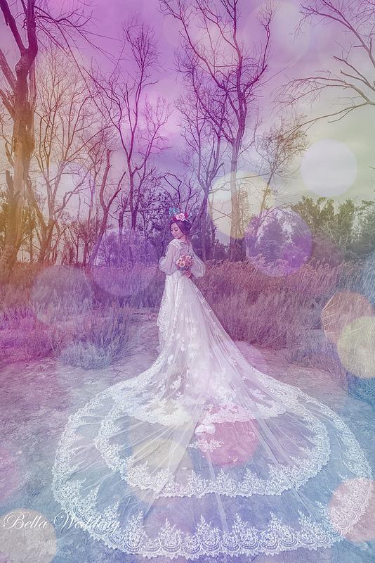 嘉義新秘,新娘秘書,森林秘境婚紗,精靈皇冠,花圈捧花