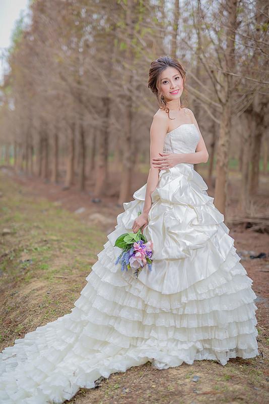 嘉義自助婚紗創作 | 白紗造型 韓風編髮
