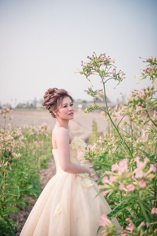 嘉義自助婚紗創作 | 白紗造型 韓風花苞新娘 模特兒:張翊涵