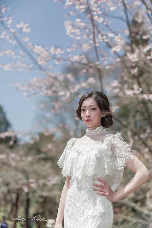 嘉義新秘,新娘秘書,自主婚紗,唯美櫻花婚紗,清透妝感,韓系典雅