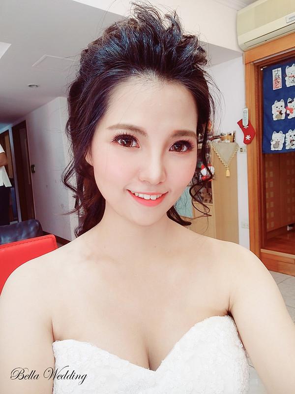 嘉義新秘 ,新秘 , 白紗宴客造型,短髮新娘無縫接髮,韓系妝感,