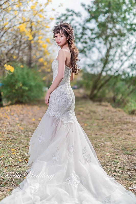 嘉義新秘,新秘,黃花風鈴木婚紗,番路九重葛,落羽松婚紗,華麗鏤空蕾絲白紗,浪漫仙女造型,森林系婚紗
