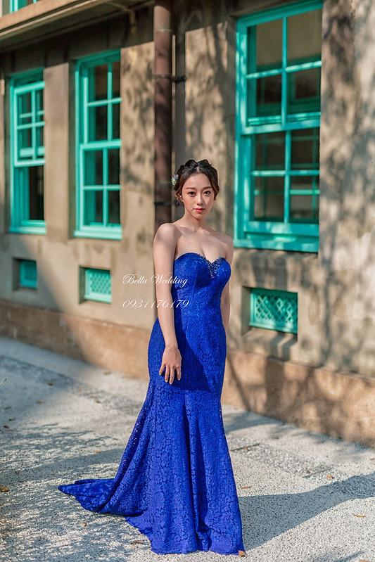 嘉義新秘Bella,新娘秘書,新秘 , 嘉義市立美術館 , 唯美清透妝感,精緻眼妝, 優雅新娘造型,寶藍魚尾禮服
